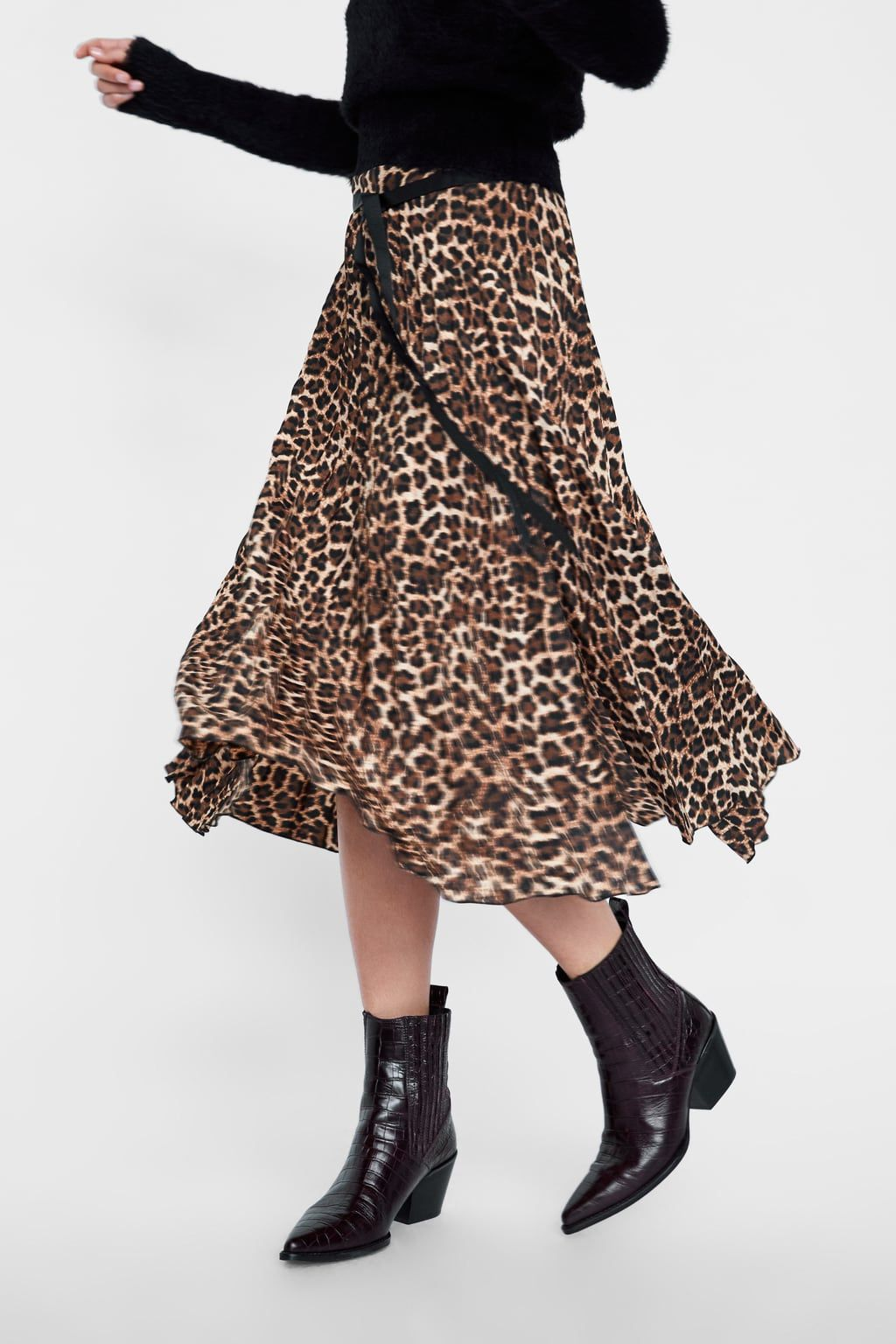 975b4733a Animal print pleated skirt in 2019 | Wishlist | Outfits, Pleated ...