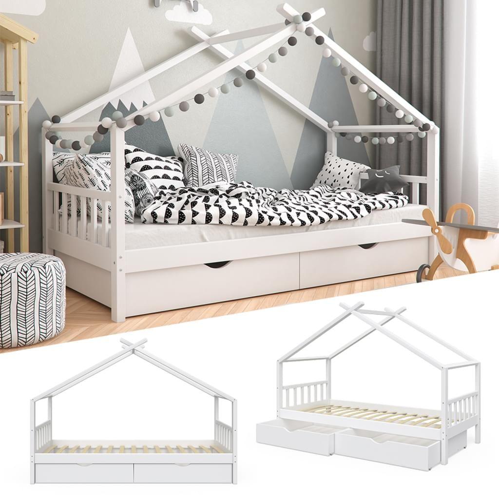 Vitalispa Kinderbett Design Hausbett Mit Schubladen Und Lattenrost