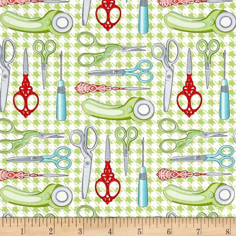 Sewing Room Scissors Green | Fabric | Pinterest | Sewing rooms ...