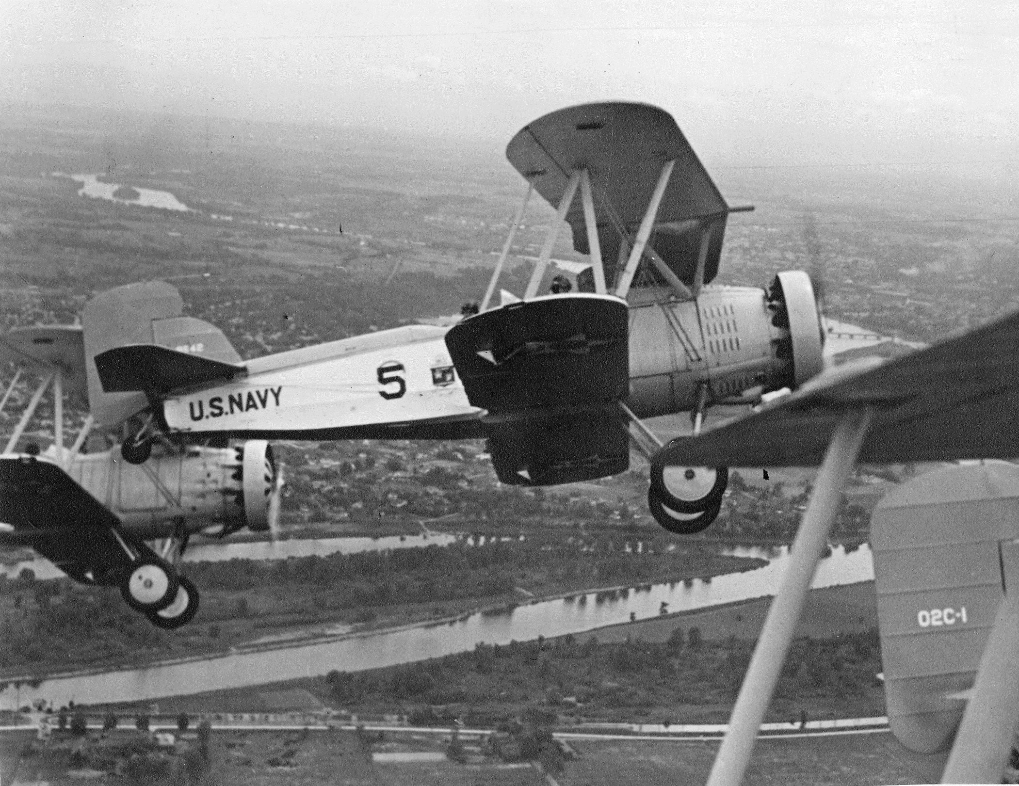 Curtiss Helldiver Us Navy Curtiss O2c 1 Aircraft Assigned To Naval Reserve Air Base New York In Formation C 1930 Usn Naval Us Navy Usn