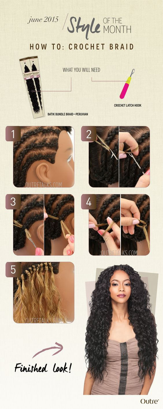 Crochet Braiding Is An Installation Method For Bulk Or Non Wefted Hair Extensions Using A Crochet N Hair Styles African Braids Hairstyles Crochet Hair Styles