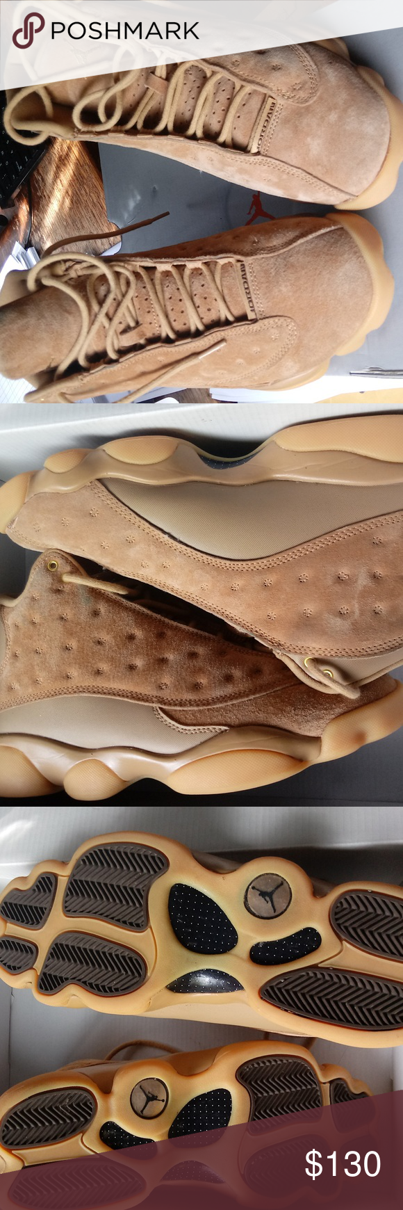 on sale a6b0d 7e0a7 Air Jordan Retro 13 Tan Suede worn maybe twice, Almost ...