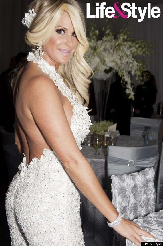 Kim Zolciak Backless white wedding jumpsuit   Dressed   Pinterest ...
