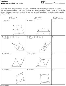 Properties Of Quadrilaterals Worksheet Answers - worksheet