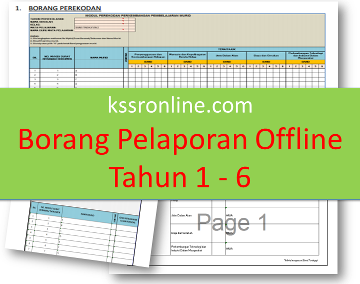 Teacher Can Find Modul Or Borang Pelaporan Offline Kssr For Year 1 To Year 6 In The Link Below Please Find The Borang Pela Offline Teacher Periodic Table