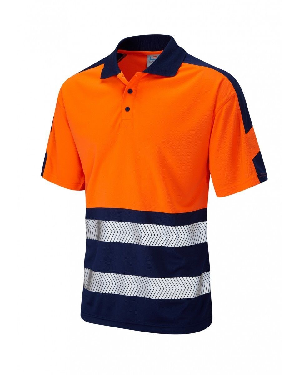 Leo Workwear Watersmeet P10 Hi Vis Polo Shirts Class 2