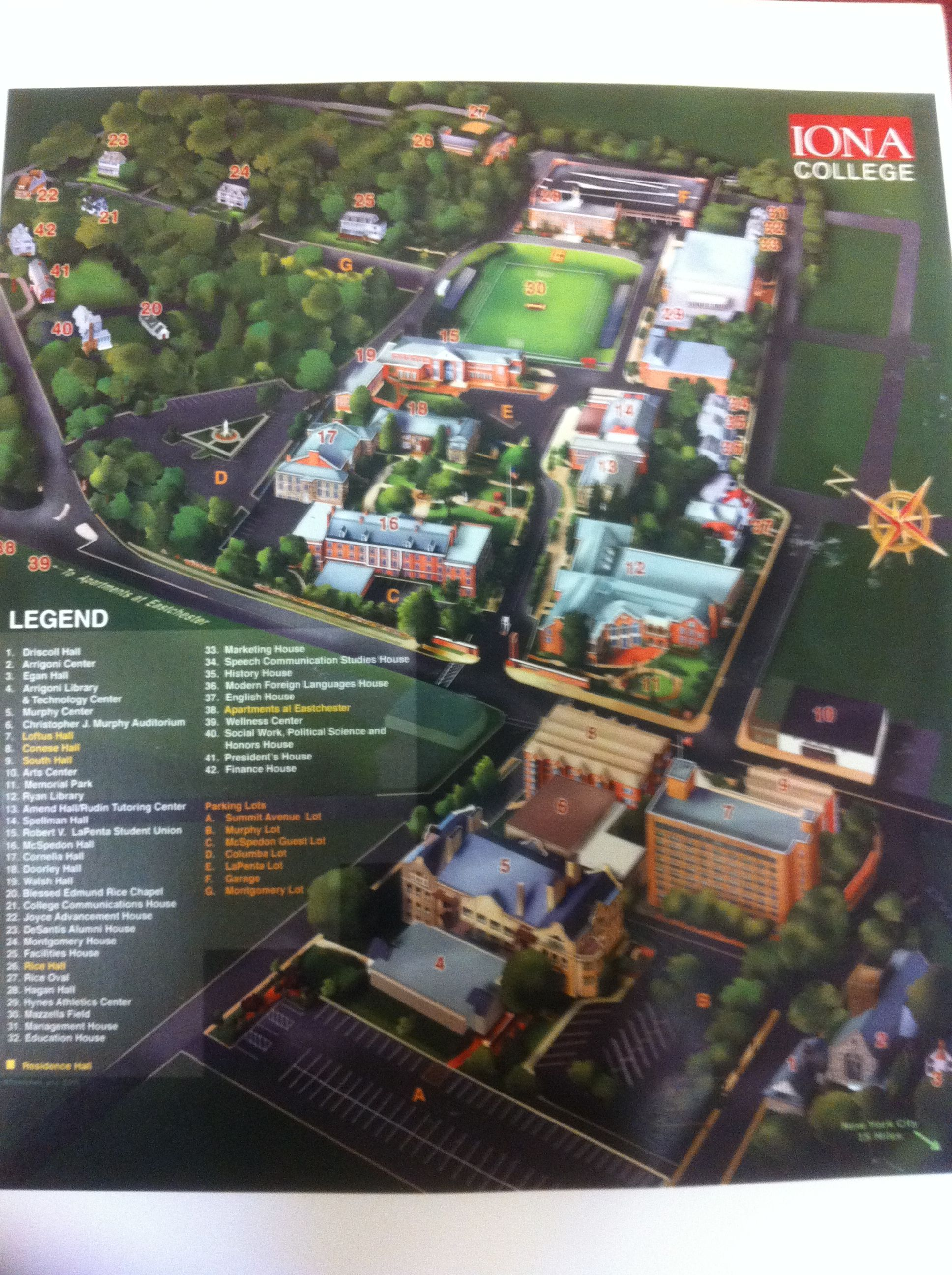 iona college campus map Become Acquainted With Iona S Campus Right Here Just Click On iona college campus map