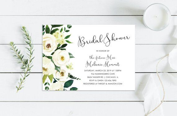 Printable Or Printed Watercolor Floral Bridal Shower Etsy