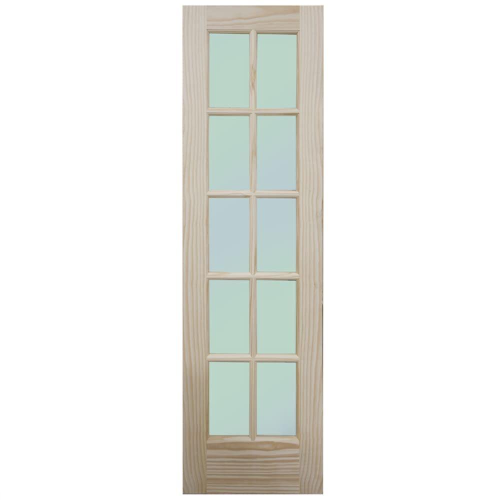 French 10 Lite Clear Pine 24 Interior Door Slab Sku 4520317 Doors Interior Slab Door French Interior