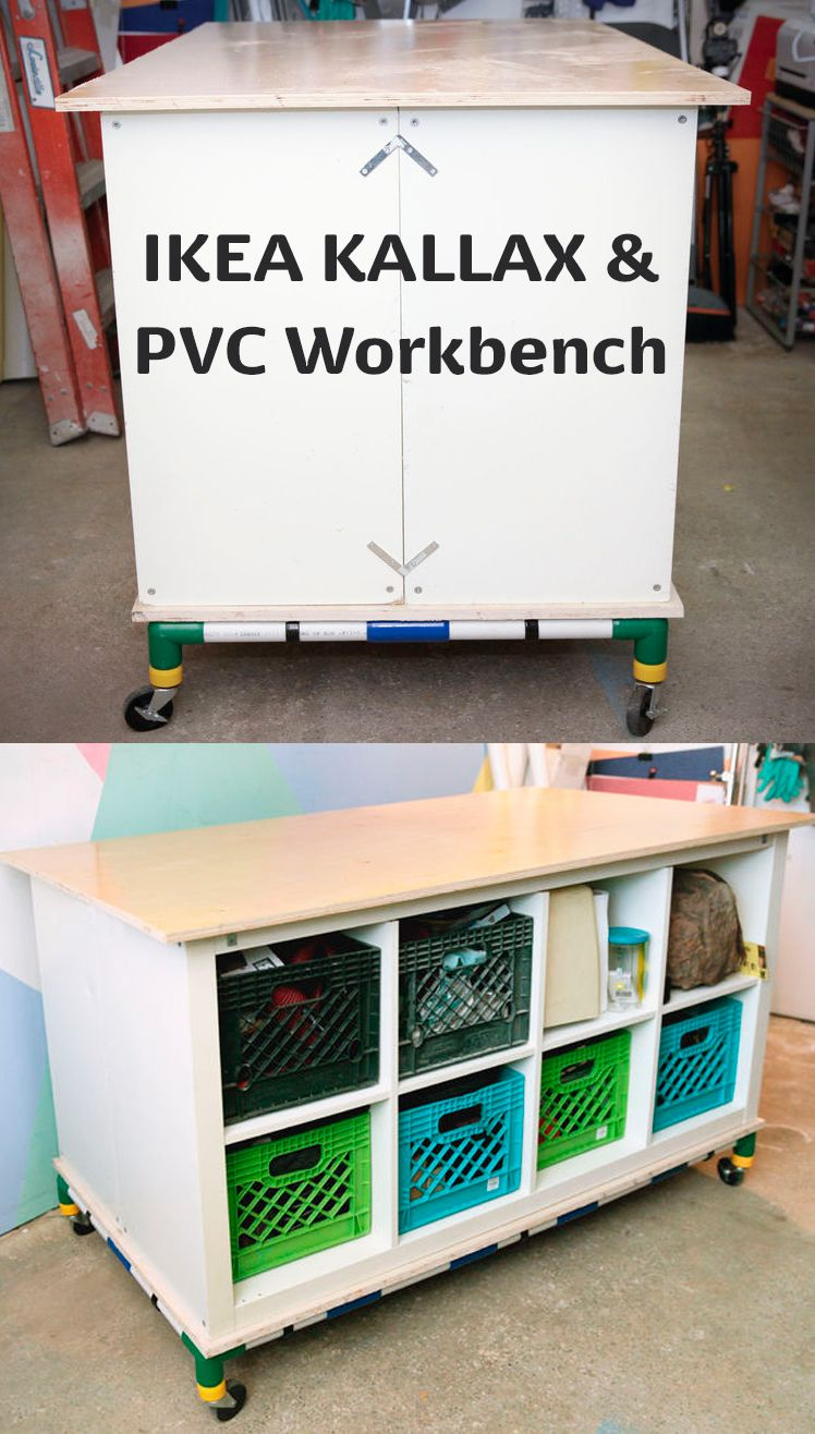 Ikea Kallax And Pvc Workbench Craft Room Organization