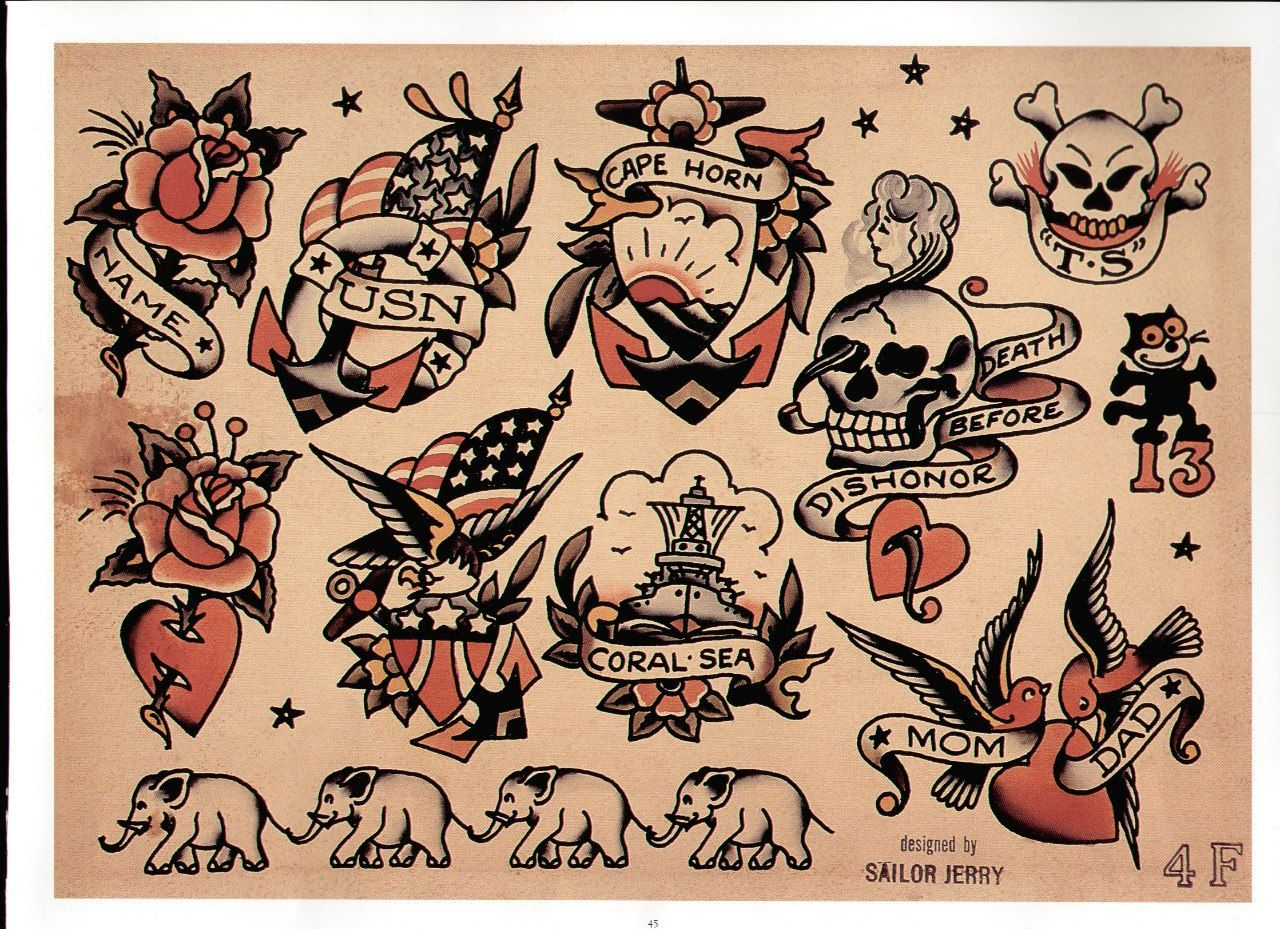 Sailor Jerry Tattoo Flash Volume 2 in 2020 (With images ...