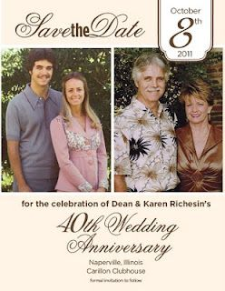 Kaleidoscope Save The Date Card 40th Anniversary Party 50th Anniversary Party Ideas Parents 50th Wedding Anniversary Decorations