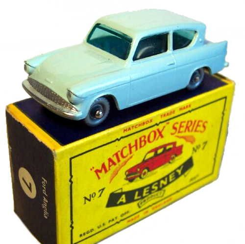 Diecast Matchbox 7b Ford Anglia New Or Updated At Www Diecastplus Info Matchbox Cars Matchbox Corgi Toys