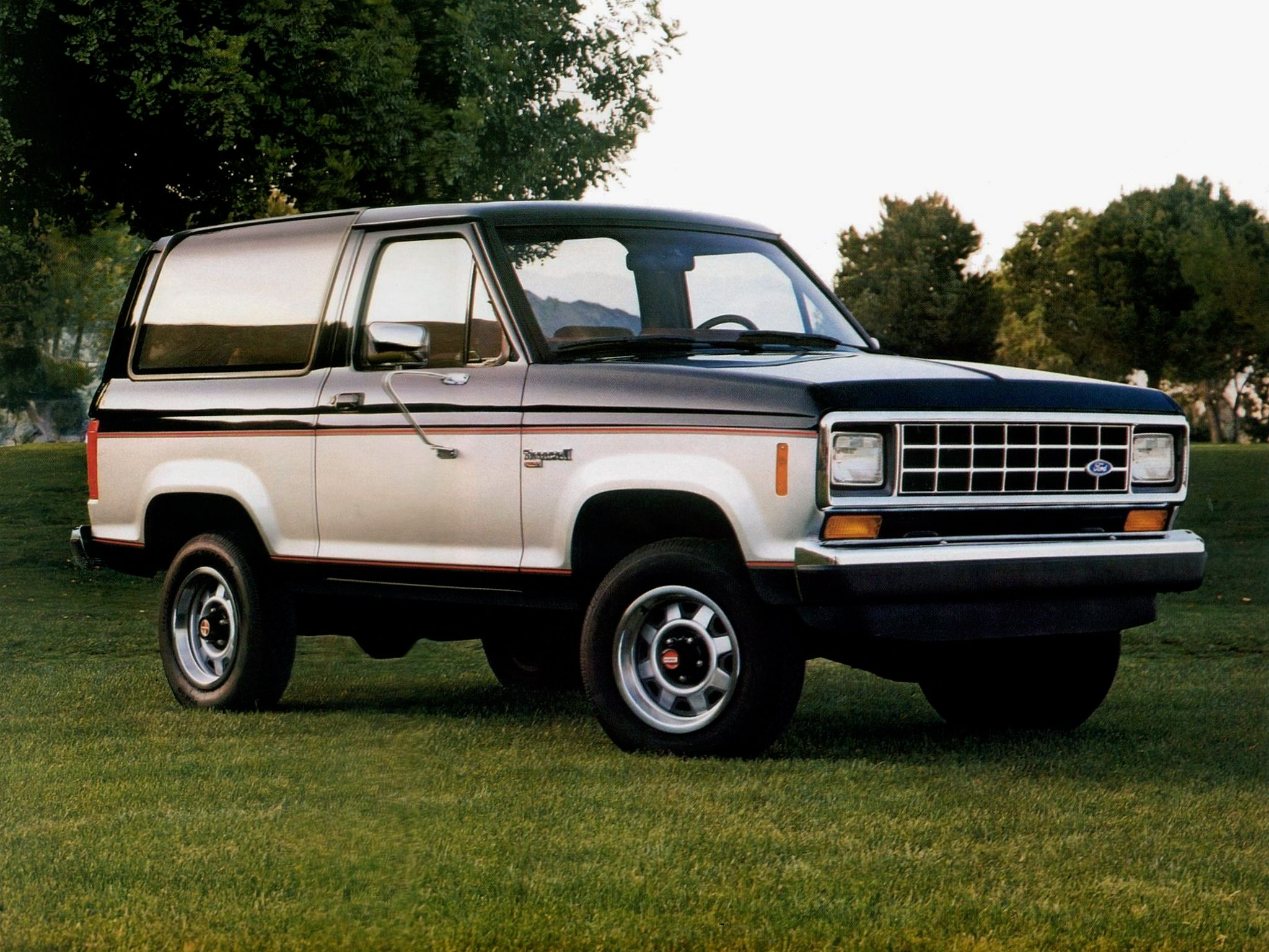 The ford bronco ii is a two door compact sized four wheel
