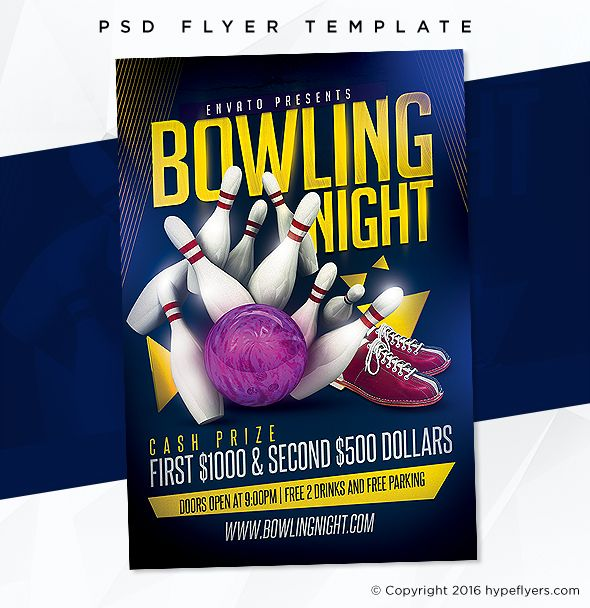 Bowling Party Flyer Template Bowling party, Event template and - bowling flyer template