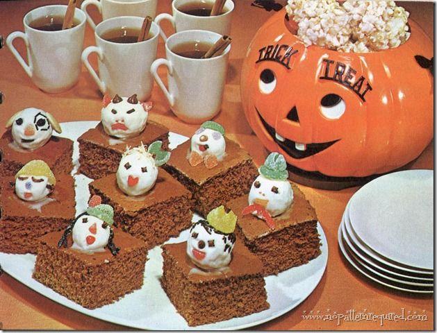 Betty Crocker Halloween goodies, 1960 In a Pumpkin Pinterest