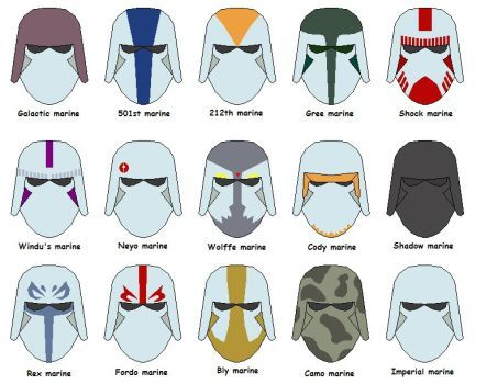 Marine helmets by vaderboy   Star Wars   Pinterest   Galaxias ...