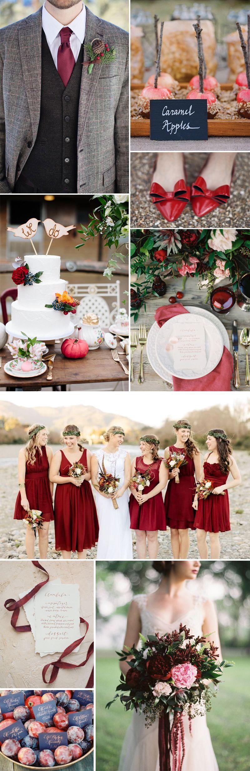 Fall wedding decor 2018  Mesmerizing Fall Wedding Ideas for  that You Will Love