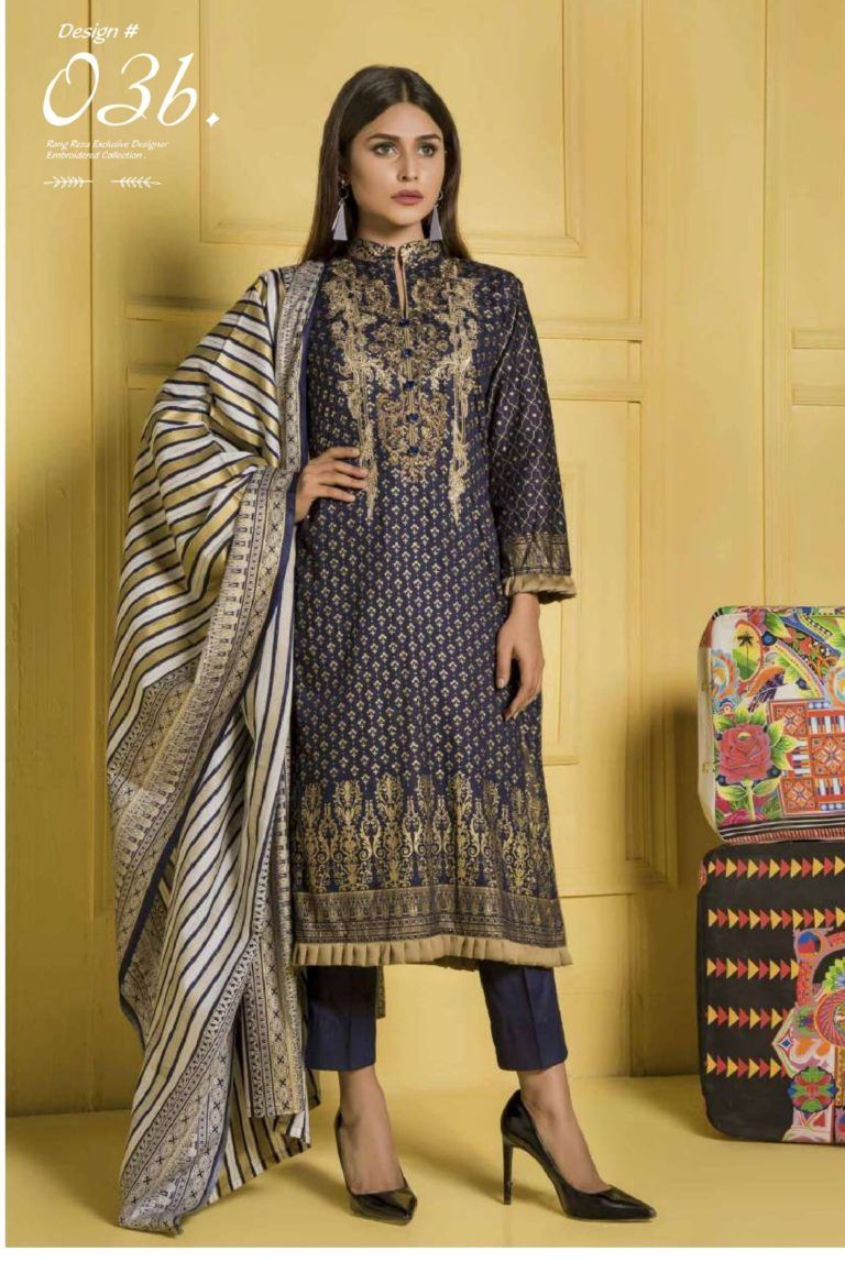 8a8c67cf3f Rangreza Embroidered Collection Cotton With Embroidery Suit 03b ...