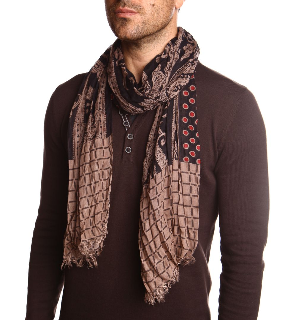 Echarpe homme motif cachemire et géo Homme - DEVRED 1902   Cachemire ... 4550751b585