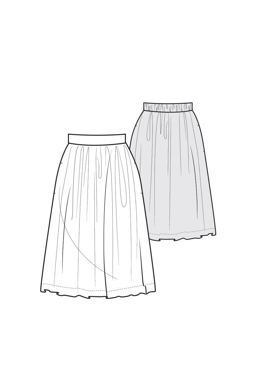 EasyGatheredSkirt | Garment Sewing Patterns | Pinterest | Costura ...