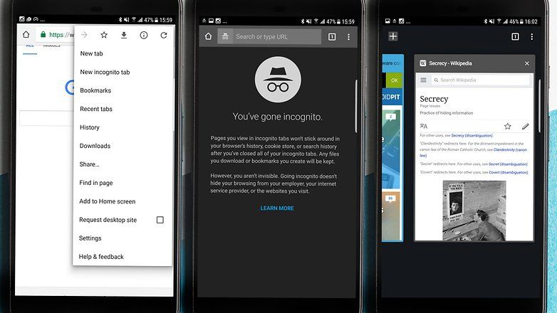 Private Browsing How To Use Incognito Mode On Android Incognito Private Android