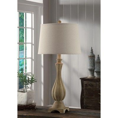 Crestview Collection - Whitley Table Lamp 32: Ht., Antique Cream Finish