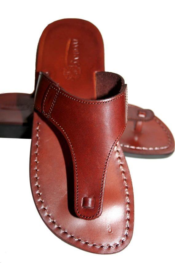 3c9d073bf3477 Brown Wave Leather Sandals For Men   Women - Handmade Unisex Sandals ...