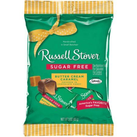 Russell Stover Sugar Free Caramels With Stevia 3 Oz Bag Walmart Com Butter Cream Sugar Free Peanut Butter Sugar Free