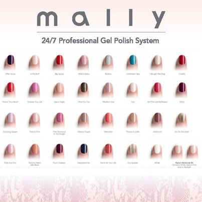 All Of Mally Beauty S Gel Nail System Colors 3