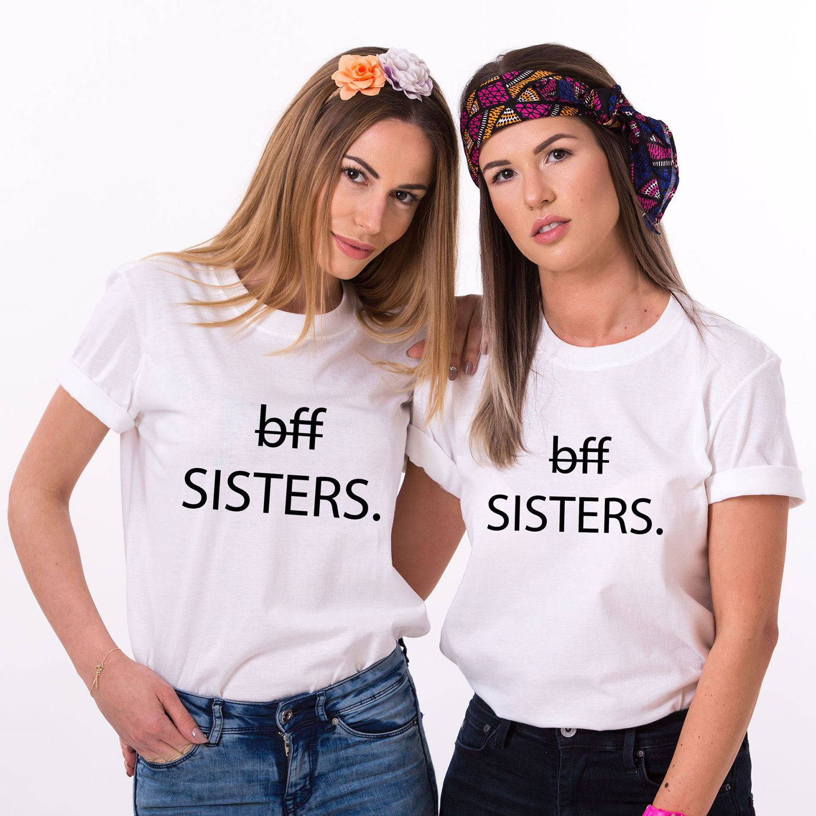 54baac3f Best Friends Sisters Shirts, Bff Matching Outfits, Best Friends Women's  T-Shirts