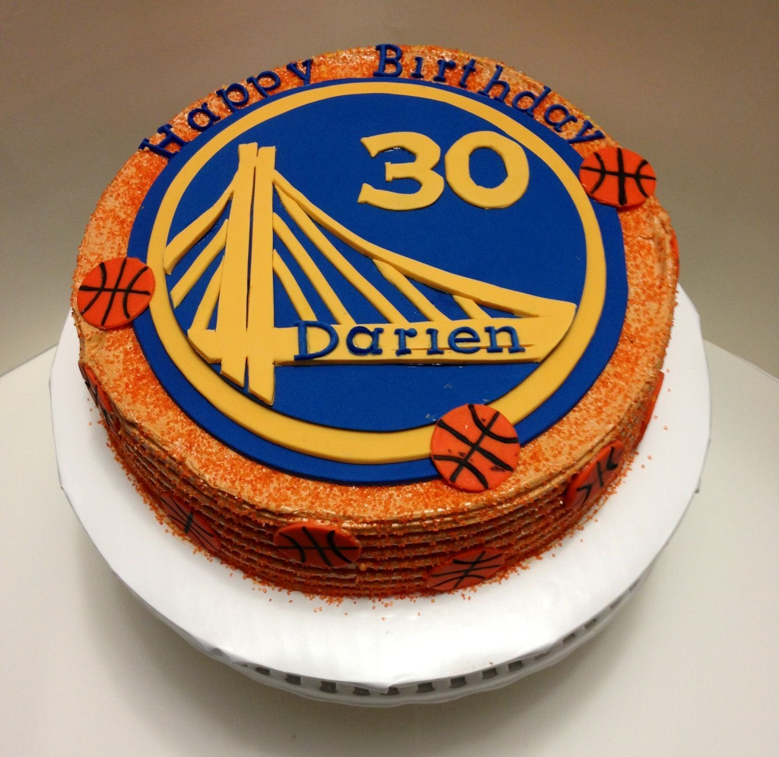 Basketball Cake Golden State Warriors Buttercream Frosting And