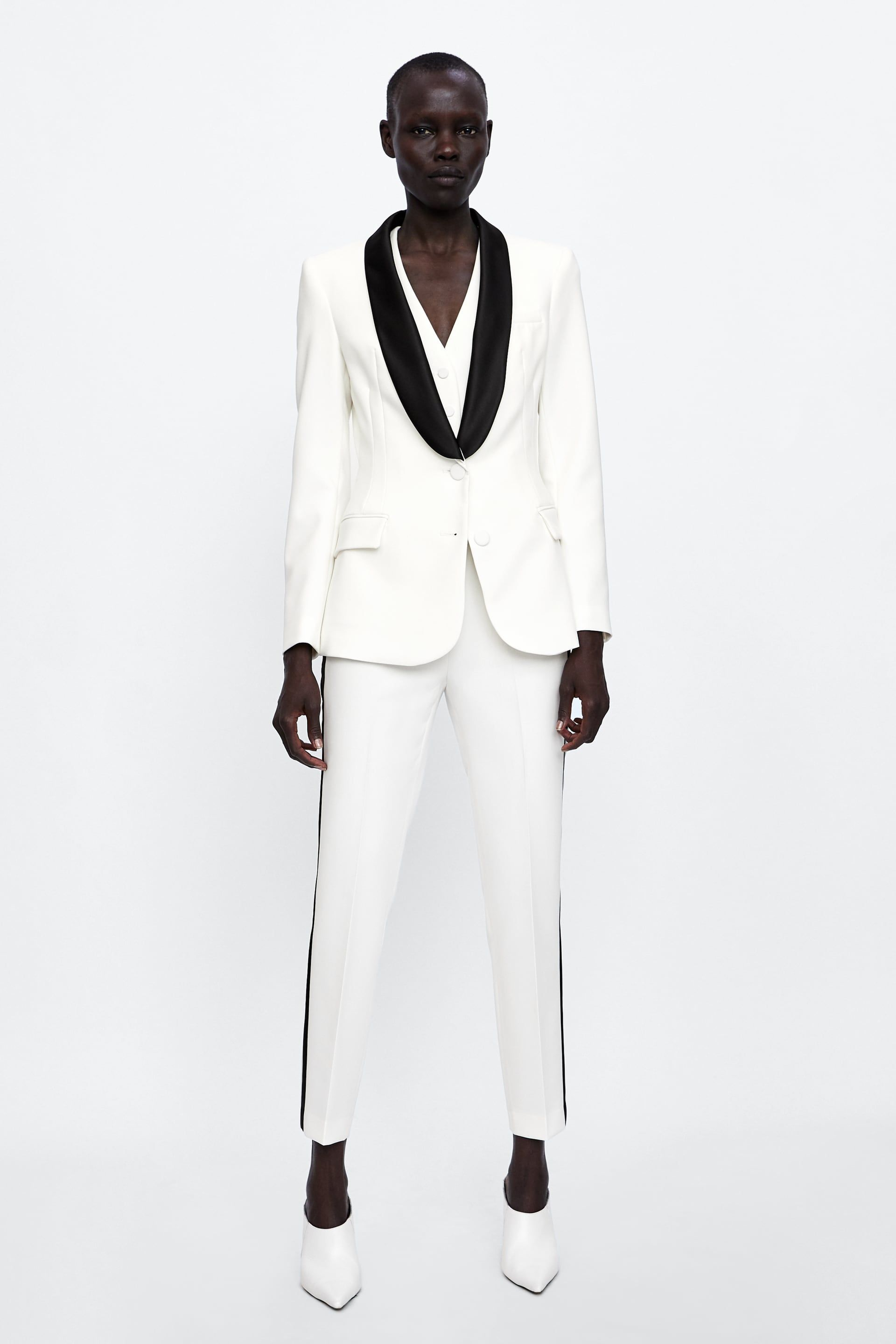 f637a478 Image 1 of CONTRASTING TUXEDO JACKET from Zara | Work It in 2019 ...