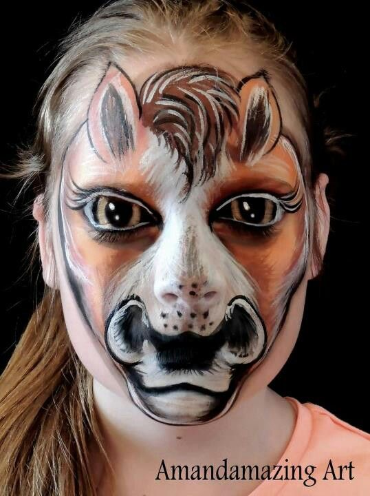 amanda tozser face paint horse face paint pinterest kinderschminken fasching und. Black Bedroom Furniture Sets. Home Design Ideas