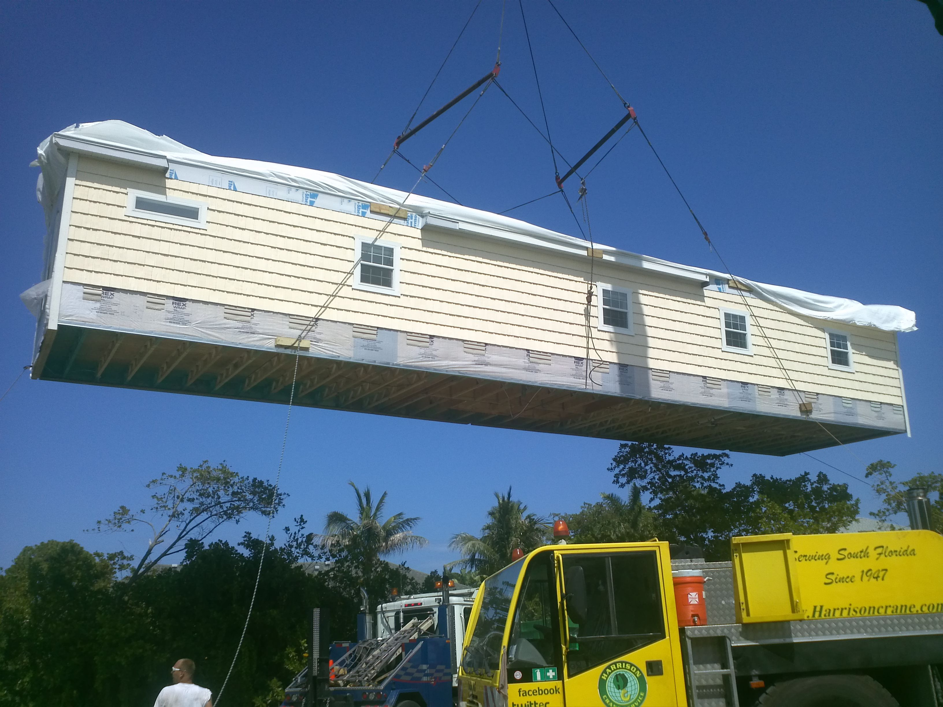recovering modular building that was undermined and went down embankment Lifting Modular Buildings Sheds Pinterest