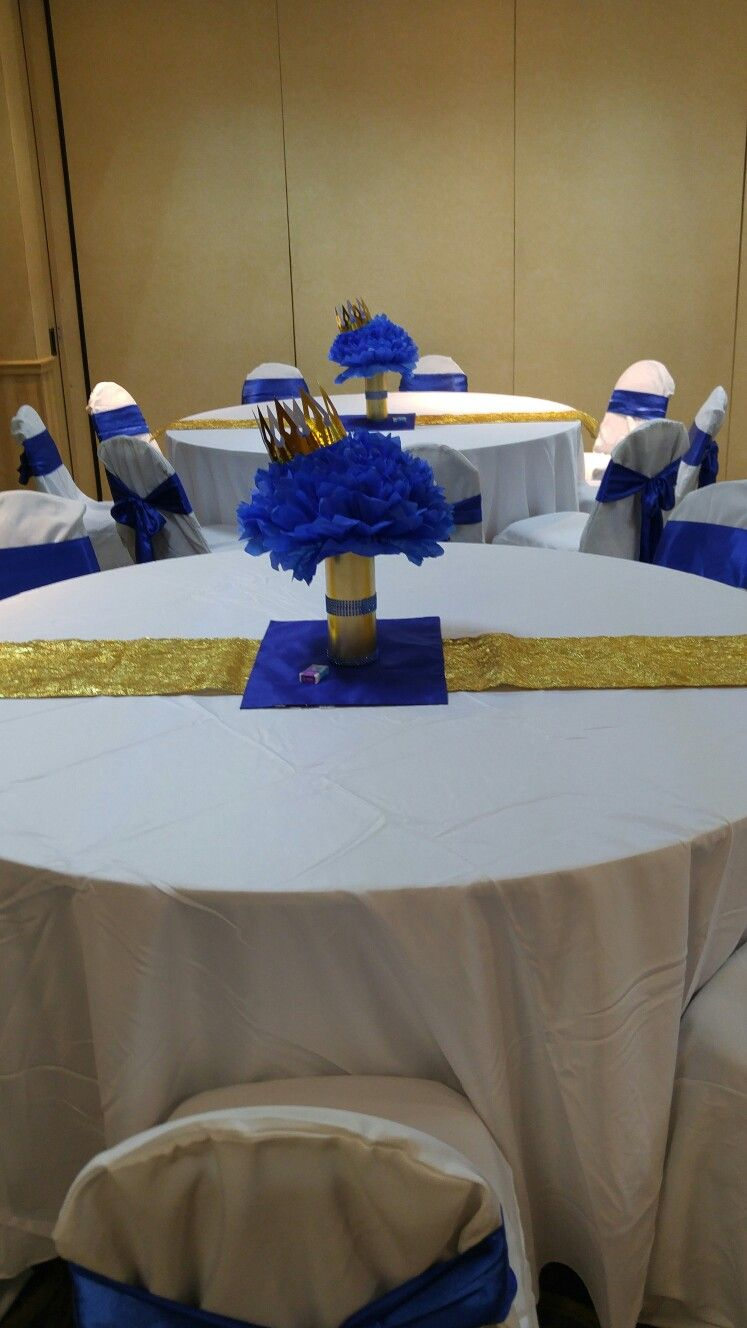 Prince Baby Shower Centerpieces More Baby Shower Decor