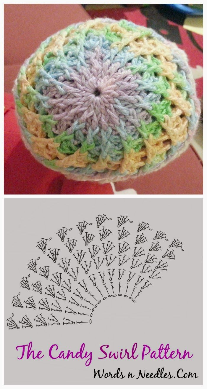 Candy Swirl Newborn Crochet Hat Pattern #crochethatpatterns