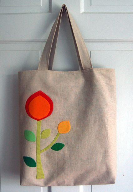 sew bag with flowers n hen tasche mit blumen diy. Black Bedroom Furniture Sets. Home Design Ideas