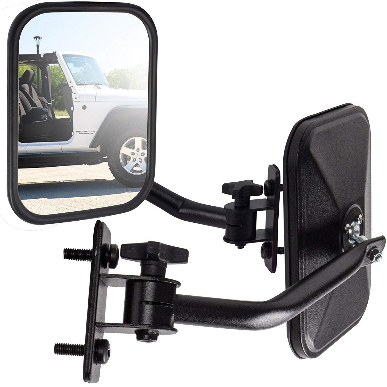 Oxgord Side Mirror Best For 1997 2018 Jeep Wrangler Set Of 2
