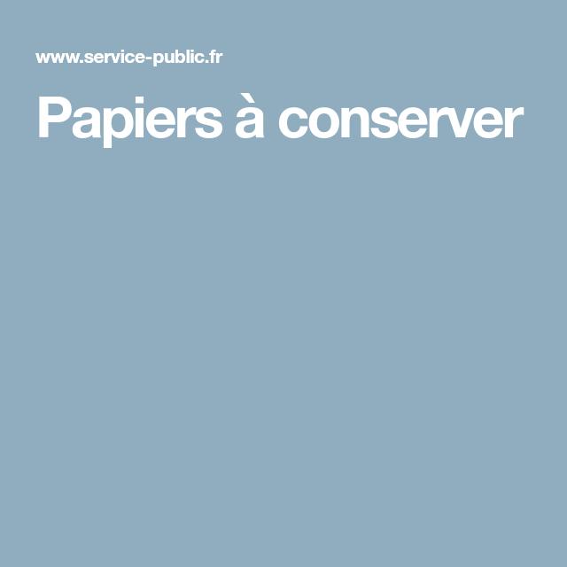 Papiers A Conserver Assurance Vie Etat Civil Papier