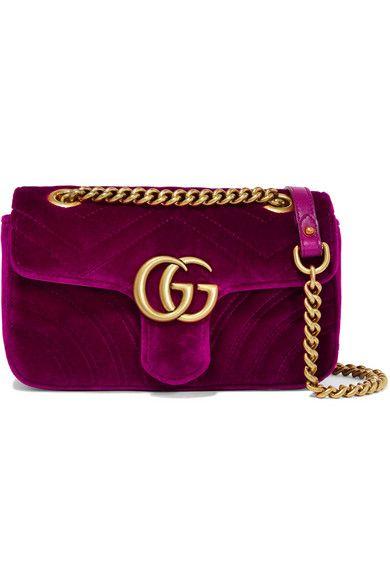 915964a15 Gucci | GG Marmont mini quilted velvet shoulder bag | NET-A-PORTER.COM