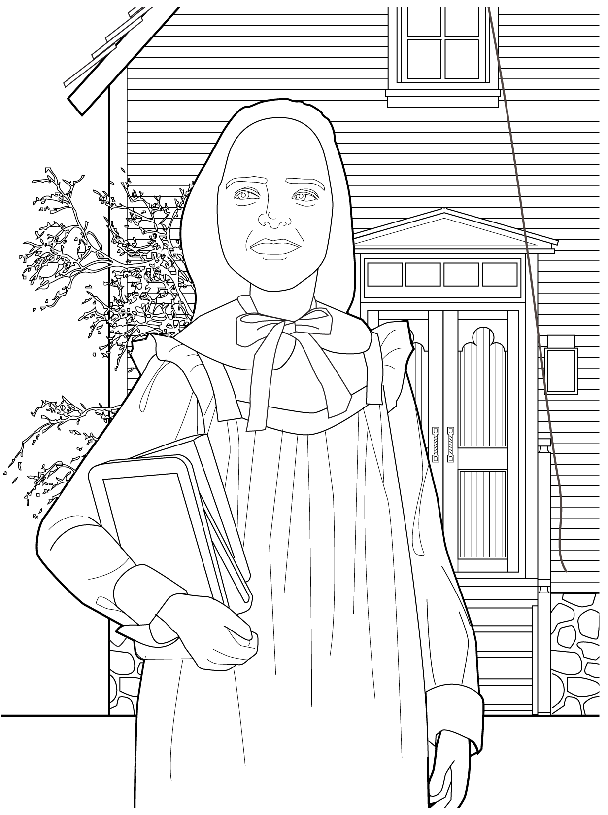 Mary Ingalls Coloring Page Coloring Pages House Colouring Pages Free Coloring Pages