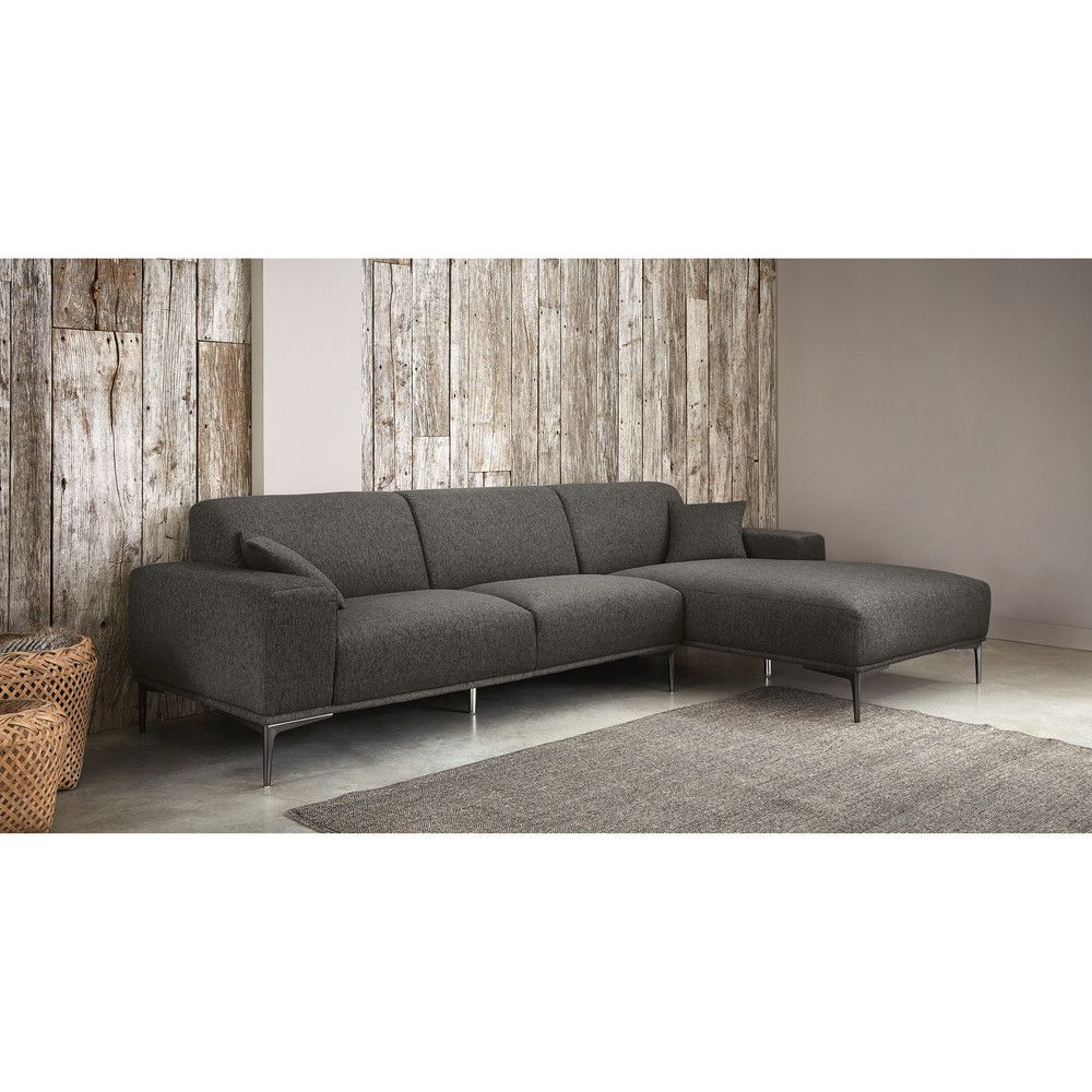 Mottled Grey 5 Seater Right Hand Corner Sofa Maisons Du Monde Ecksofa Sofa Wohnen