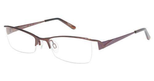 Charmant Eyeglasses TI12068 TI/12068 Half Rim Burgundy Optical Frame ...