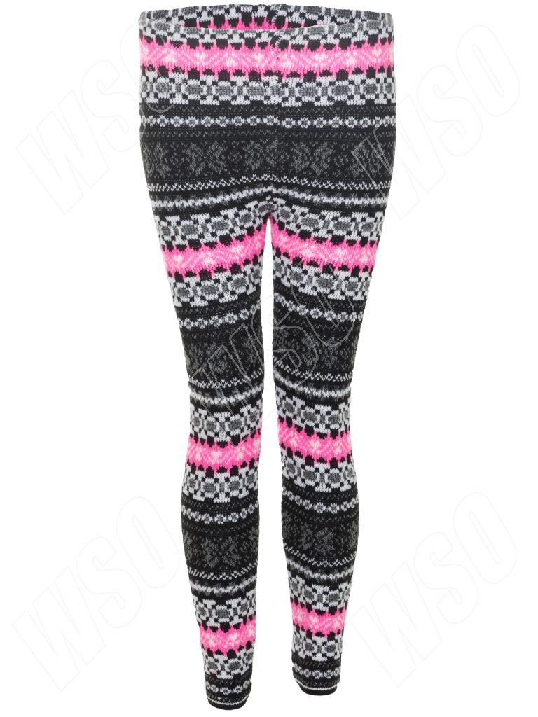 New womens ladies knitted nordic fairisle aztec pattern leggings new womens ladies knitted nordic fairisle aztec pattern leggings size s m l xl dt1010fo