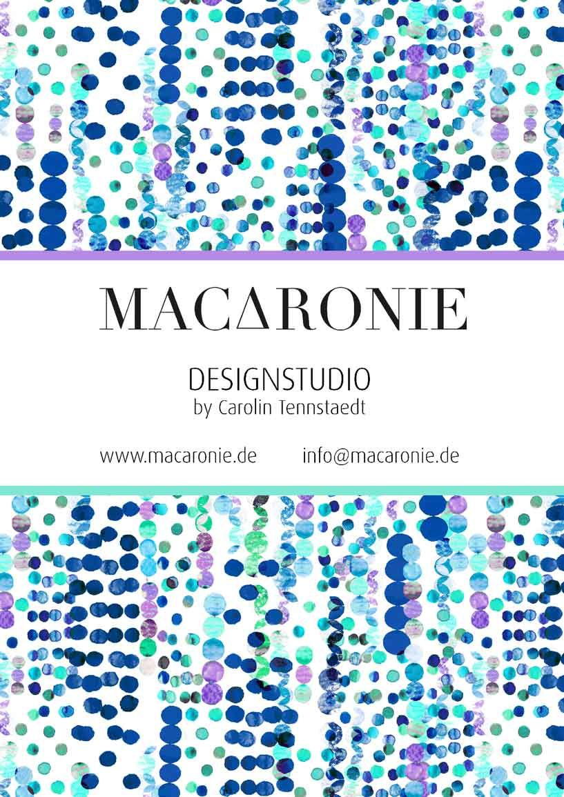 Watercolor Dots/ Fashion Print © Designstudio by Carolin Tennstaedt info@macaronie.de