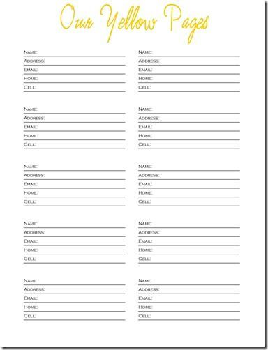 Free Printable Templates Phone Numbers  Free Printable Contact