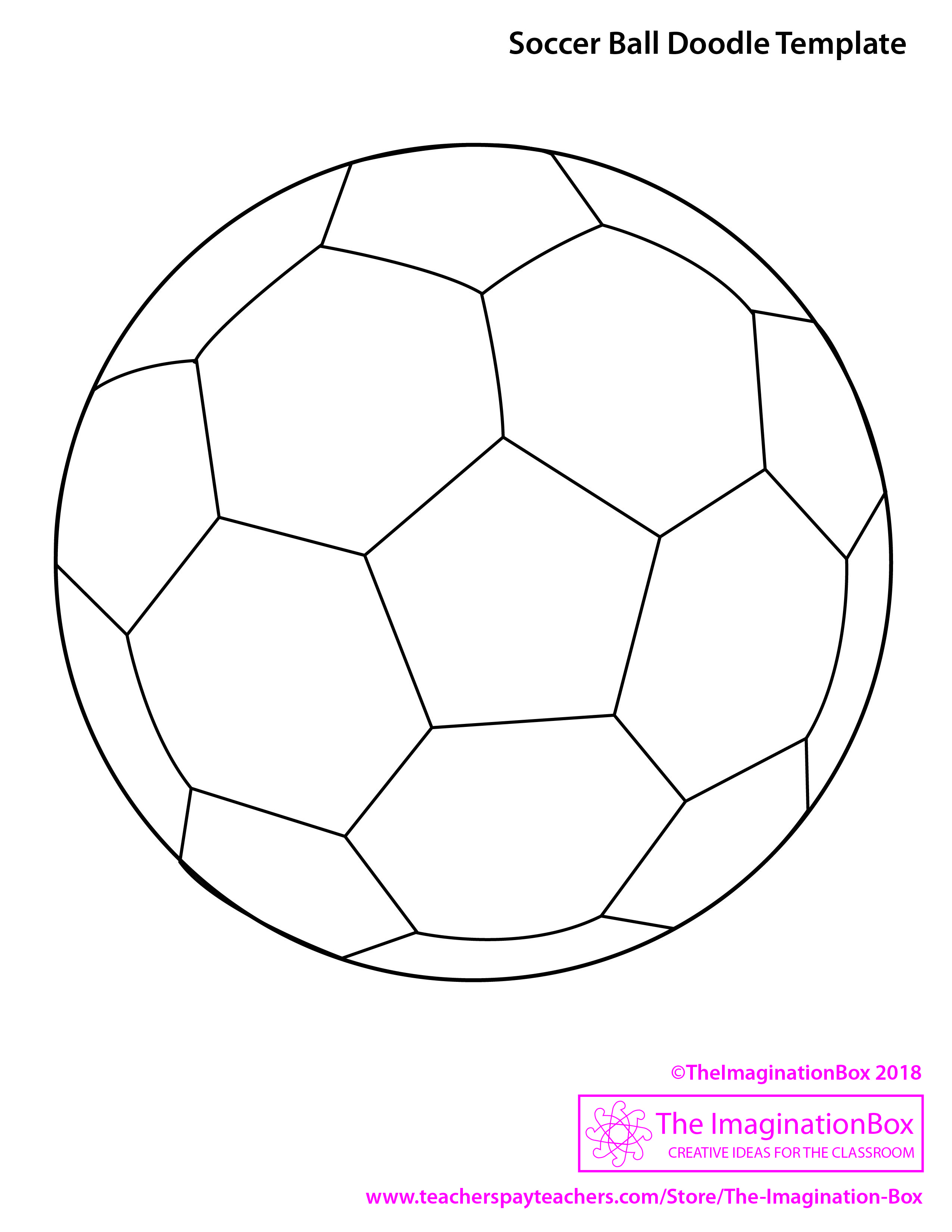 Soccer Ball Template Jpg 2 550 3 300 Pixels Back To School Art Coloring Pictures For Kids All About Me Art