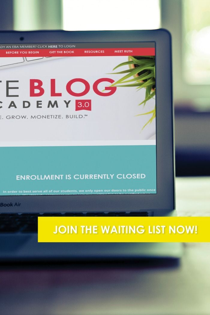Want to take your blog to the next level, or finally stop spinning your wheels? Elite Blog Academy offers a comprehensive framework and a step-by-step plan for creating a successful, profitable blog. It was BY FAR the best investment I have ever made for my business, and the money-back guarantee means you literally have nothing to lose! Doors are opening soon for five days only–don't miss your chance!