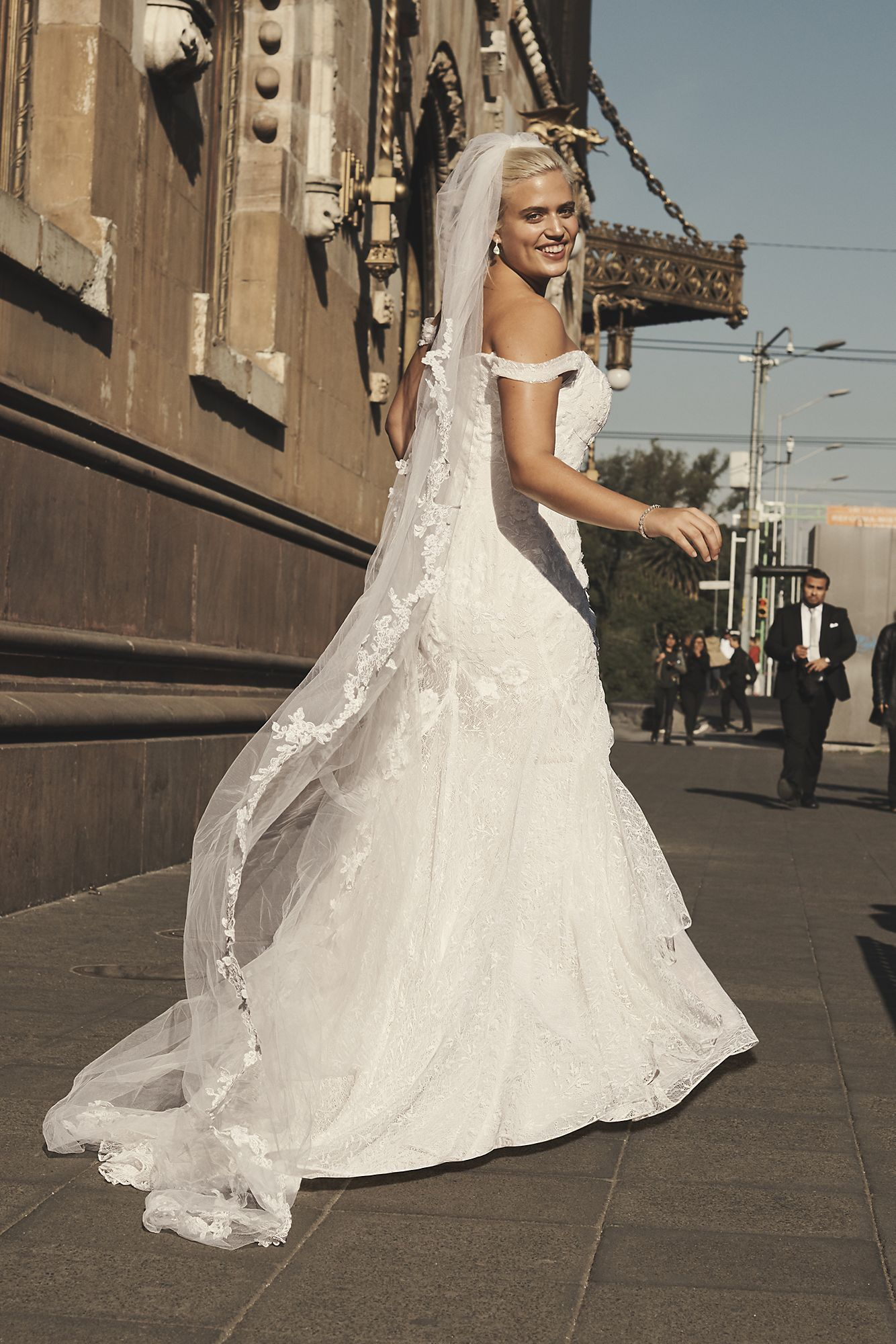 Layered Lace Swag Sleeve Plus Size Wedding Dress Melissa Sweet 4xl8ms251196 Davids Bridal Wedding Dresses Bridal Trumpet Wedding Dress [ 2000 x 1334 Pixel ]